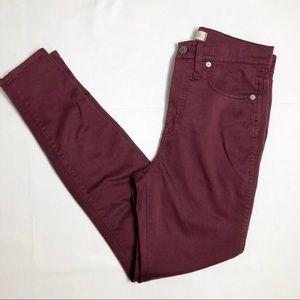 "Women's Madewell 10"" high rise skinny jeans"